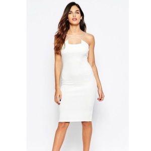 Sexy Tight White Bodycon Strappy Dress!